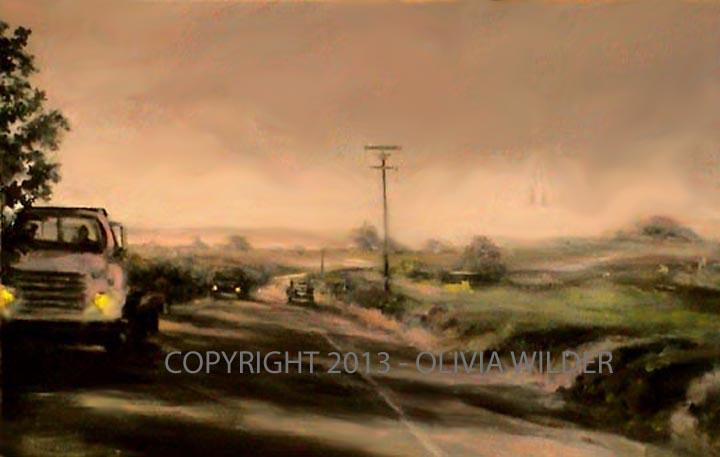Fog on Highway 1