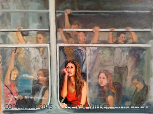 Havana Scenes: Bus